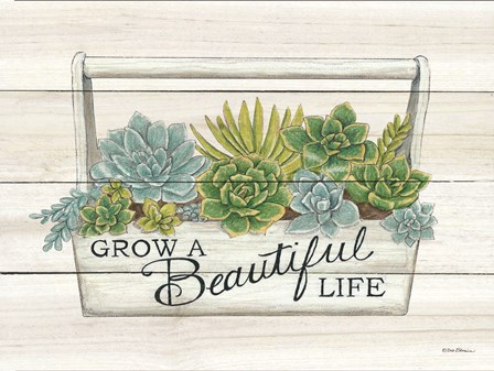 Beautiful Life Succulents by Deb Strain art print