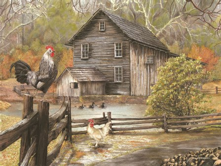Down on the Farm I by Ed Wargo art print