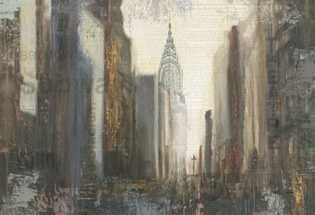Urban Movement I NY Neutral Crop by Myles Sullivan art print