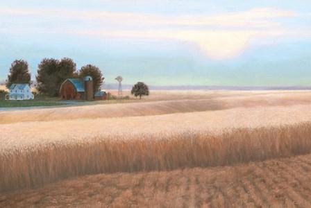 Family Farm No Couple by James Wiens art print