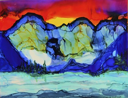 Mountain Glow by Michelle McCullough art print