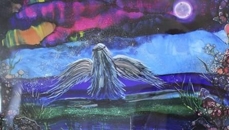 My Dark Angel by Michelle McCullough art print