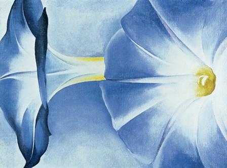 Blue Morning Glories by Georgia O'Keeffe art print