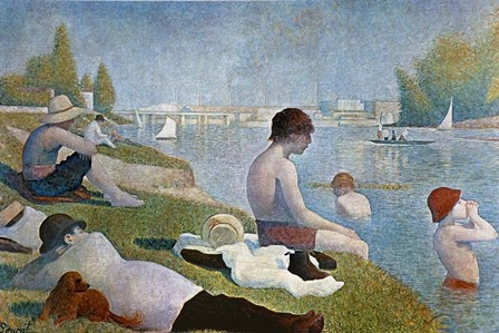 Bathing at Asnieres by Georges Seurat art print