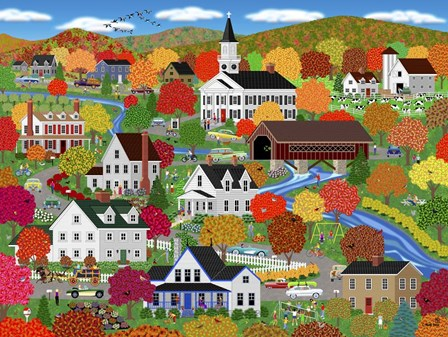 New England Autumn by Mark Frost art print