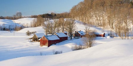 Jenne Farm Winter - Panorama by Michael Blanchette Photography art print