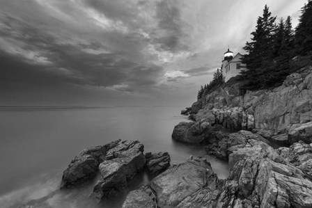Bass Harbor Mood BW by Michael Blanchette Photography art print