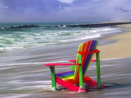 Rainbow Chair by Mike Jones Photo art print