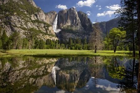 Yosemite Falls Reflection by Mike Jones Photo art print