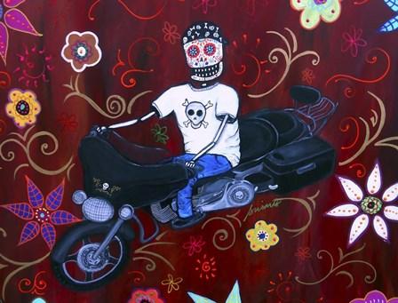 Street Glider Harley by Prisarts art print