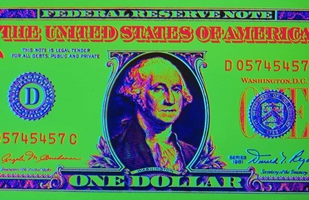 Close-Up Detail American Dollar Bil by Vintage PI art print