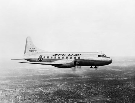 1940s 1950s American Airlines Convair Flagship by Vintage PI art print