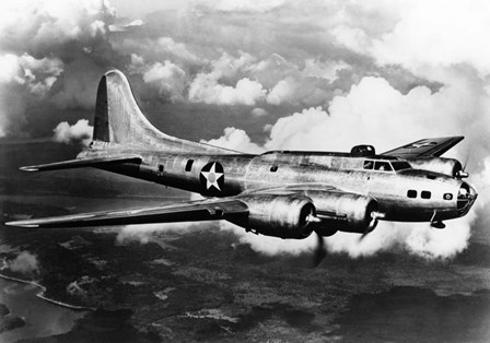 1940s World War Ii Airplane Boeing B-17E Bomber by Vintage PI art print