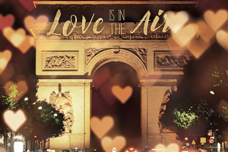 Love is in the Arc de Triomphe v2 by Laura Marshall art print