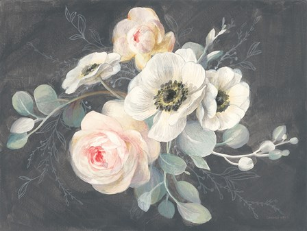 Roses and Anemones by Danhui Nai art print