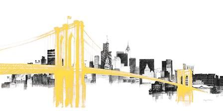Skyline Crossing Yellow by Avery Tillmon art print
