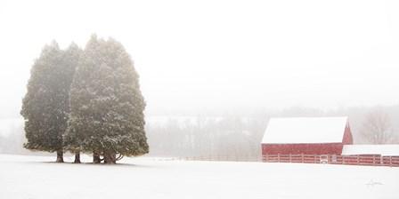 Winter Farm by Aledanda art print