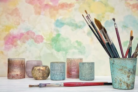 Paint Brushes Still Life by Cora Niele art print