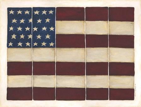 Tiled Flag by Cindy Shamp art print