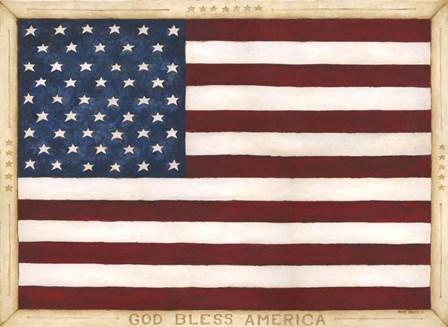 God Bless America by Cindy Shamp art print