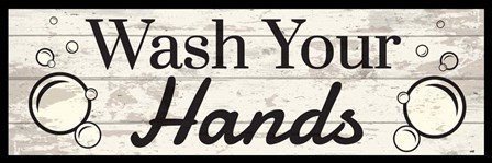 Wash Your Hands by ND Art & Design art print