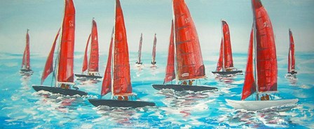 Sailing Yachts by A.V. Art art print