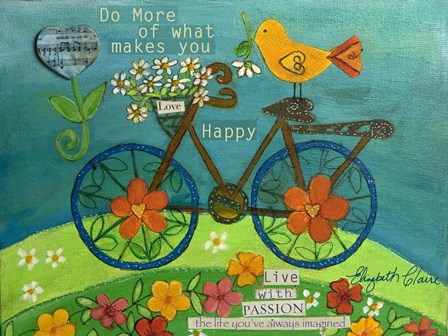 Do More - Live With Passion by Elizabeth Claire art print