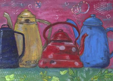 Cafeteras by Elizabeth Claire art print