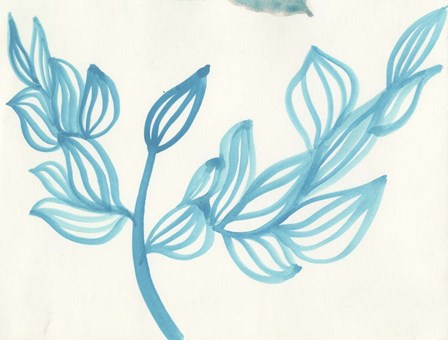 Blooming - blue by Fernanda Franco art print
