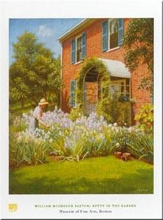 Betty in Garden by William Paxton art print