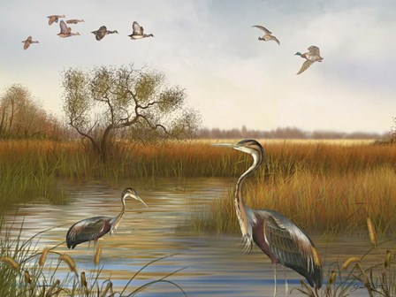 The Great Marsh - B by Jean Plout art print