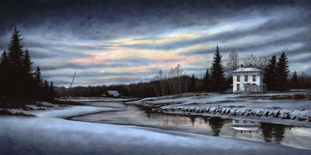 A Winter Dawn by John Morrow art print