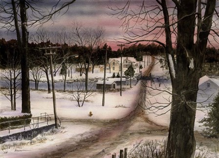 A Winters Day by John Morrow art print