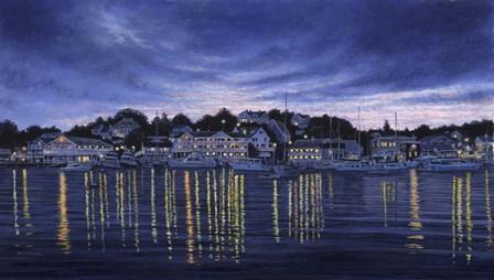 Harbor Lights by John Morrow art print