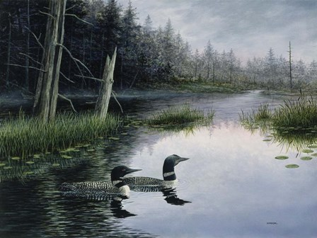 Misty Morn by John Morrow art print