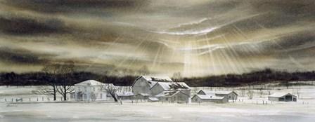 The Eye of Winter by John Morrow art print