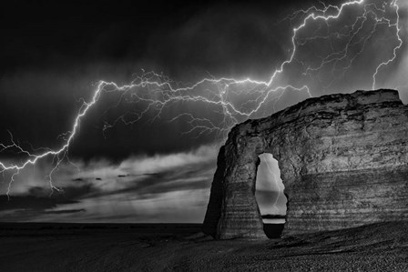 BW Lightning at MR by Darren White Photography art print