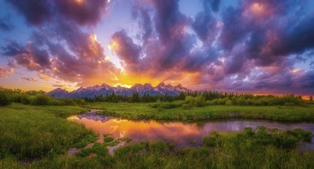 Grand Sunset in the Tetons by Darren White Photography art print