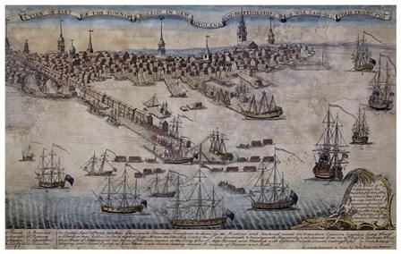 Boston Revere 1768 by Vintage Lavoie art print
