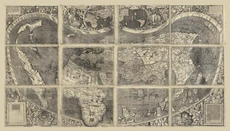 1507 Waldseemuller Very Hi Res XL by Vintage Lavoie art print