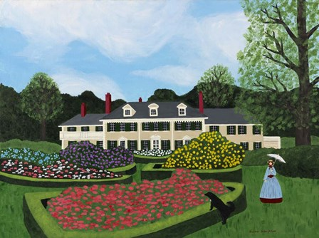 Afternoon Stroll At Hildene by Susan C Houghton art print