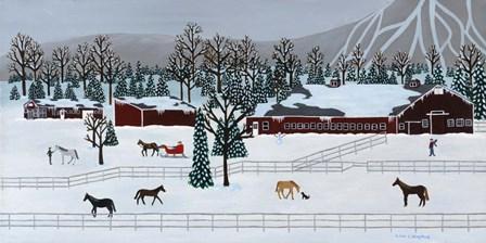 Horse Farm by Susan C Houghton art print
