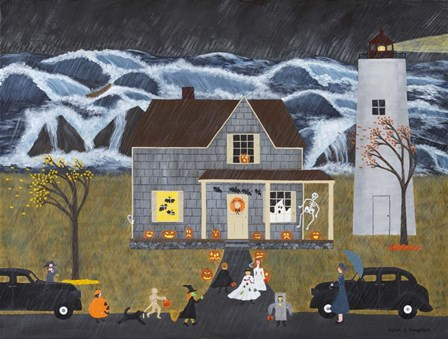 A Stormy Halloween At Sea by Susan C Houghton art print