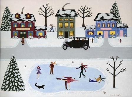 Snowy Lane by Susan C Houghton art print