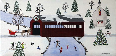 Winter Wonderland by Susan C Houghton art print