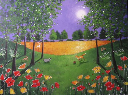 Autumn Evening Poppies by Angie Livingstone art print