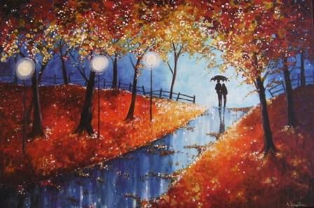 Autumn Evening Rain by Angie Livingstone art print