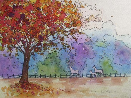 Autumn Fire by Angie Livingstone art print