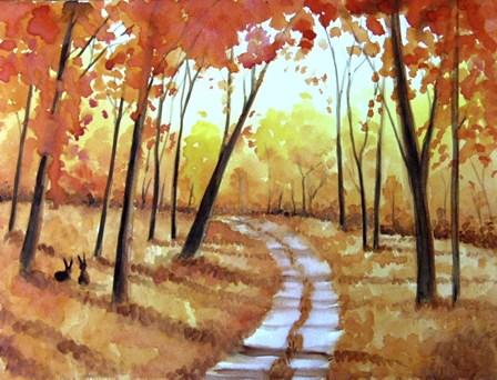 Autumn Path by Angie Livingstone art print