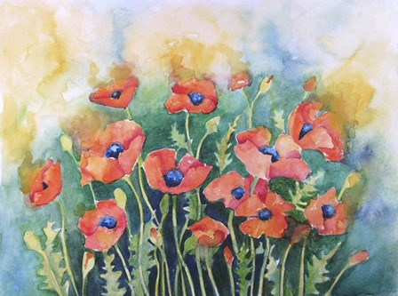 Dancing Poppies by Angie Livingstone art print